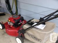 "2009 Craftsman rear wheel drive lawnmower, 22"" cut, 650"
