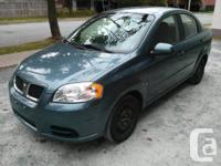 I am offering my 2009 Pontiac G3 Wave. It has 89,800 km