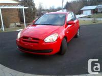 Make Hyundai Model Accent Colour Red Trans Manual kms