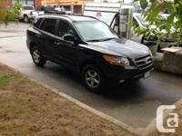 2009 Hyundai Santa Fe GL Black 85,000 KMs Cloth