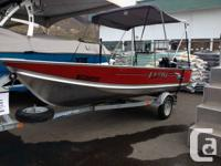 Very nice 14' Lund. Has a Merc 20HP and trailer. Very