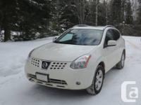 2009 Nissan Rogue SL AWD  White w/ Black Interior  17""
