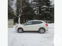 "2009 Nissan Rogue SL AWD White w/ Black Interior 17"""
