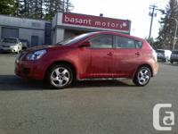 2009 PONTIAC VIBE RED ON BLACK INTERIOR 5 SPEED MANUAL