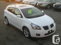 2009 PONTIAC VIBE WHITE ON BLACK CLOTH INTERIOR,