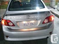 I have 2009 Toyota Corolla with 129800km for sale. The