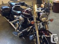 2009 Yamaha Star 950 Tourer. Fuel injected 950 cc. Too