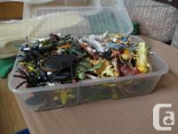 a large box of plastic animals 201 +5 more jungle