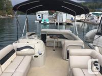 2010 Godfrey Pontoon Boat and Tandom axle trailor 70 hp