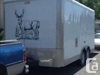 Custom toy hauler all set up with full