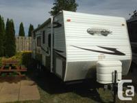 Excellent aluminum travel trailer (bumper pull).  Has a