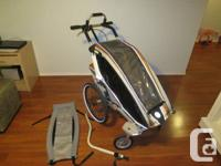 2010 Chariot CX-1.  Consists of: Biking package, Baby