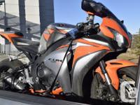 2010 Honda CBR 1000RR, ORANGE AND SILVER, OEM Paint