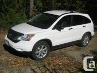 This white CR-V EX is always garaged and pampered. All