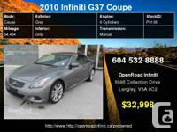 2010 Infiniti G37s Sport Coupe     Engine: