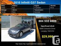 2010 Infiniti G37x Sedan Luxury Hi Tech Pkg