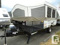 This is an amazing tent trailer that is lifted and