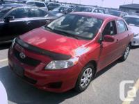 2010 Toyota Corolla 105Km. Clean CarProof available, 1