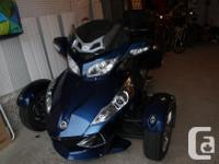 2011 CAN-AM SPYDER RT BLUE MANUAL, AIR SUSPENSION,