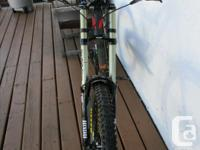 2011 davinci Wilson downhill mountain bike, aluminum
