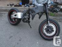 Bike was taken apart for the engine for a project don't