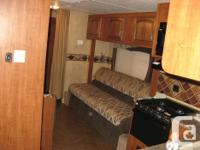 This bunk house camping unit is in great shape. Never