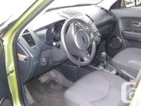 2011 Kia Soul 4U 2.0L 4 cylinder, in lime green on gray