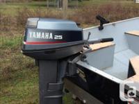 2011 Lund WC-14 Aluminum Boat, 1991 25hp Yamaha 2