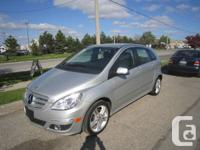 2011 MERCEDES B200 SILVER OVER BLACK INTERIOR,