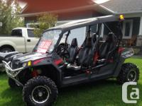 2011 polaris rzr 4 seater 800 with many extras, plow