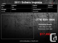 2011 Subaru Impreza   Engine:  Stock ID: BB3479