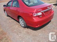 Make Toyota Model Corolla Year 2011 Colour red kms