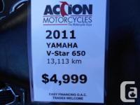 2011 Yamaha V-Star XVS650 -Windshield -Studded Seat &
