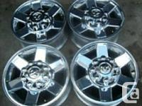 factory  17 inch polished aluminum  wheels off a 2012