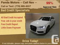 2012 Audi A6  Disorder: UsedColor: White/BlackEngine:
