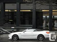 2012 BMW 650i Cabriolet  local vancouver car, one owner