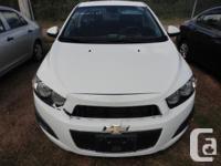 Make Chevrolet Model Sonic Year 2012 Colour WHITE kms