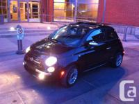 2012 - Fiat 500 Lounge Black Exterior Black Leather