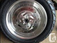 TIRES, RIMS, AND ROTORS NEW Silver, Slotted Disc Cast