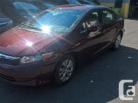 Make Honda Year 2012 Colour BURGANDY kms 37168 Trans