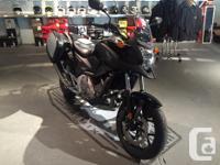 - Like new, only 241 total km on bike Honda's NC700X is