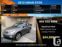 2012 Infiniti EX35 AWD 4dr     Engine:    6