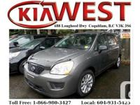 This 2012 Kia Rondo has REALLY LOW KM as well as is in