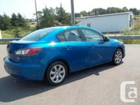 Make Mazda Model MAZDA3 Year 2012 Colour BLUE kms