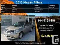2012 Nissan Altima 2.5 SL     Engine:    4