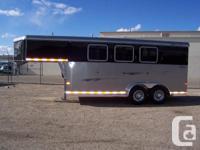 2012 Sedona 3 Horse Gooseneck trailer for sale. Less