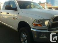 2012 Dodge Ram 3500 4x4 White Exterior in good