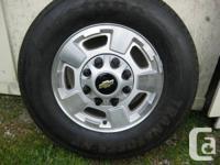 4-Chevy Silverado GMC Sierra 2500 3500 SRW wheel rim