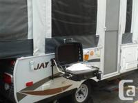 Outdoor tents trailer made use of 1 summer. Has 1 king