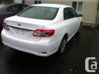2012 toyota corolla white air condition power lock and